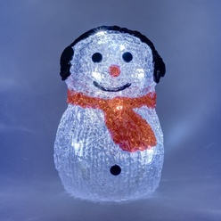 decoLED LED bonhomme de neige - 15cm, à piles