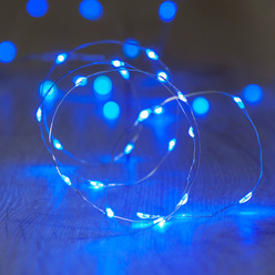 decoLED LED guirlande lumineuse - bleue, 20 diodes, 2.3 m, decoLED