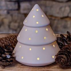 LED décoration - arbre - 15,5cm, batterie
