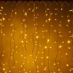 decoLED LED rideau - 3x1m, 300 LEDs chaudes