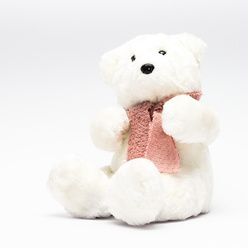 Peluche ours 19x18x20 cm - blanc
